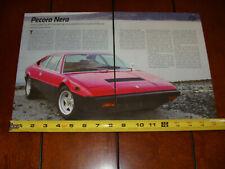 1975 FERRARI 308 GT4 ORIGINAL 2012 ARTICLE