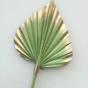 1 Dried Palm Spear Leaves Flowers,CAKE TOPPER,Green and Gold
