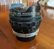 New listing Rokkor-Ok Fisheye Lens with multiple filters Minolta Mc mount