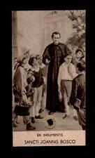 Santino Holy Card RELIQUIA RELIC S.GIOVANNI BOSCO EX INDUMENTIS