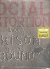 "SOCIAL DISTORTION ""Prison Bound"" 180g concrete swirl Vinyl LP sealed + Litho"