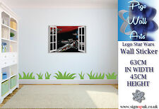 Star Wars Wall Art Sticker Lego 3d Effect Children's room décor large