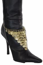 New Women Boot Bracelet Antique Gold Metal Chain Anklet Fashion Shoe Coins Charm