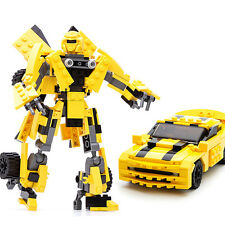 Gudi 8711 Transform Series Bumblebee Car Model 2 In 1 Robot Building Blocks Toys