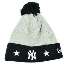 MLB New Era Heather Spec New York Yankees Cuffed Knit Beanie Pom Pom Toque Grey