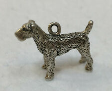 Airedale Terrier Dog Charm Sterling Silver Jewelry Bracelet Vintage Puppy