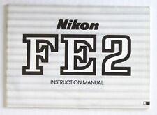 Nikon Fe2 Instruction Manual Original