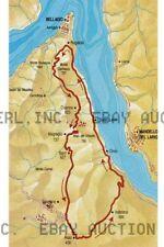 Circuito del lario color map italy moto guzzi Lake Como ca 8 x 10 print prent