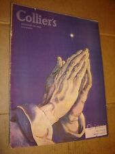 DECEMBER 28 1946 COLLIERS vintage magazine -- CHRISTMAS - PRAYING cover box23