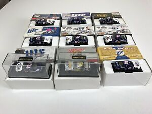 Lot of 9 Rusty Wallace Action 1/64 #2 Miller Lite NASCAR Ford Taurus Thunderbird