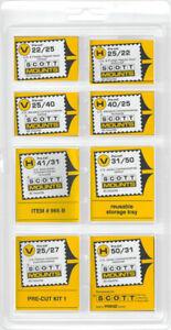 Scott/Prinz Pre-Cut Single Assortment Stamp Mounts Black #966 B
