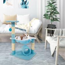"28"" Cat Tree Tower Condo Sisal Scratcher Play Furniture Kitten Pet House Blue"