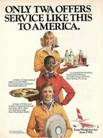 1975 Original Advertising' Twa American Airlines Company Aerial 3 Hostess