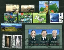 Below face E46 Faroe  2007 used 6 sets s/s 11v Ship Birds Scouts Sculpture