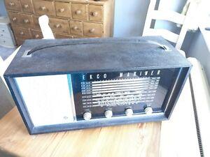 VINTAGE EKCO MARINER U.834 - SHIP'S RADIO - AC/DC 9 WAVEBANDS REFURB PROP PARTS
