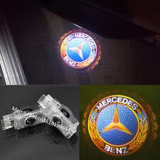 2X LED Logo laser Projector door light For Mercedes Benz 2001-2007 C-Class W203