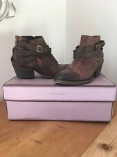 Hudson Leather Ankle Boots Size 5 'Horrigan' Calf Tan