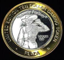 "PLAZA LIMITED EDITION $10 .999 FINE SILVER STRIKE - ""HOWDY PARTNER"" VEGAS VIC"