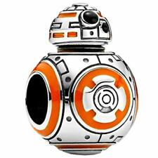 Genuine Silver 925 Stamped Amazing Star Wars Bb8 Droid Gift Charm Very Cute
