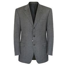 CANALI wool cashmere speckled herringbone blazer gray 3-button jacket 42/52 7 L