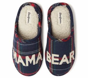 Dearfoams Mama Bear Clog Slippers Brown Frost Size L 9-10 A435593