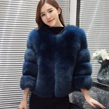 Women's Winter Warm Jackets Faux Fox Fur Coat Parka Outwear Garmnet Handmade XL