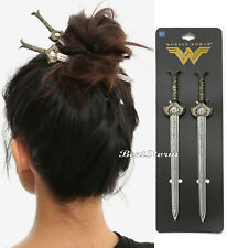 "DC Comics Wonder Woman Sword Hair Pins Sticks 6 1/2"" Long Costume Cosplay NIP"