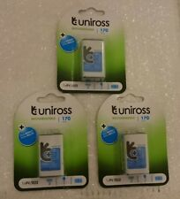 Uniross PP3 6LR61 9V 170 mAh 3 x Rechargeable Battery MA40 R22 square FASTP&P