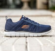 Skechers Moulton, Sneakers Uomo Navy/Orange, Lacci, Memory Foam, 232081, Casual