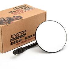"""10 cm 4"""" Zoll Custom Spiegel, rund, schwarz, Mirror black für Harley-Davidson®"""