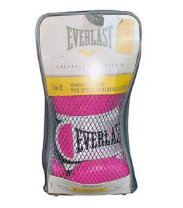Everlast Women's Pro Style Training Gloves Pink - 8 oz. w/ TN-108 Hand Wraps