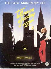 SHEET MUSIC - THE LAST MAN IN MY LIFE - MARTI WEBB  - ANDREW LLOYD WEBBER (1982)