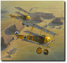 Yellow Jackets by Russell Smith - Jasta 27 - Aviation Art Print - Giclee
