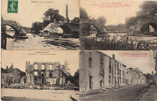 Lot 4 cartes postales anciennes GUERRE 14-18 WW1 LUNEVILLE 7