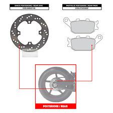 BREMBO REAR DISC (+ BRAKE PADS) - HONDA CBR 900 RR (92-03) - 68B40749