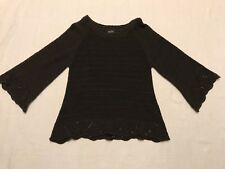 Peck & Peck Knit Casual 3/4 Sleeve Brown Dress Sweater Womens Size L NC10