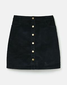 Joules Womens 213106 Cord Button Down Skirt - Marine Navy
