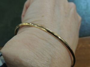 Bracelet jonc or jaune 18 carats fabrication artisanale