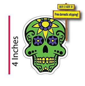 Dia de los muertos Day of the Dead Mexican Sugar Skull Green Decal sticker DOD33