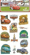 Disney Cars Lightning McQueen Mater Doc Hudson Temporary Tattoos 1 Sheet NEW