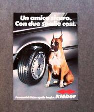 [GCG] I700- Advertising Pubblicità - 1984 - KLEBER PNEUMATICI SPALLE LARGHE