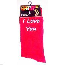 I Love You Mens Red Socks UK Size 5-12 - X6 - ILU