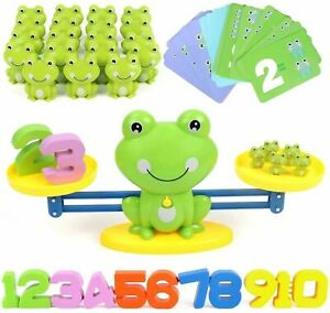 Frog Numbers Balance Scale Game for Kids Math Preschool Learning Educational Toy