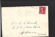 BUTTE,MONTANA, 1901 #319 FLAG CL, TO SPOKANE WA. SILVER BOW CO. 1894/OP.