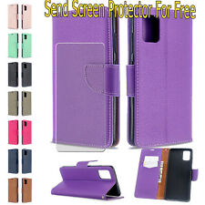 For Samsung S20 Ultra/S20+ A51 A71 4G  Strap Leather Wallet Magnetic Stand Case