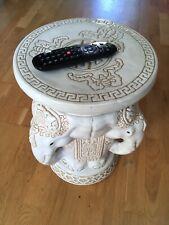 Elephant Head Ceramic Garden Conservatory Stool Chair