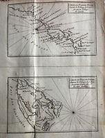 Äfrica, rio Niger, mapa original,Pruneau de Pommegorge, 1789
