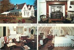 Postcard New Zealand Broadgreen Nelson multi view