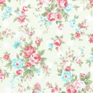 Cottage Shabby Chic Lecien Princess Rose 31265L-10 Cream w/White Polka Dots BTY