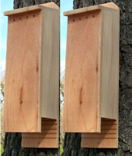 Twin Pack 3 Chamber Handcrafted Bat House Pest & Mosquito Control with Lure